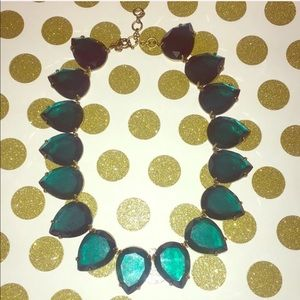 J Crew Elegant Jumbo Turquoise Pear Necklace